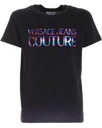 Versace Jeans Couture - Colorful Logo Printed T-shirt - Lyst