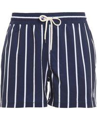 Polo Ralph Lauren Shorts Da Mare A Righe Traveler Blu