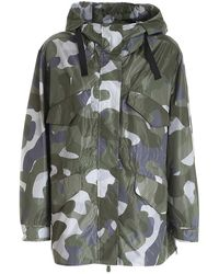 Save The Duck Logo Camouflage Jacket - Green