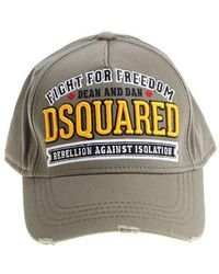 DSquared² Army Green Fight For Freedom Hat - Multicolor