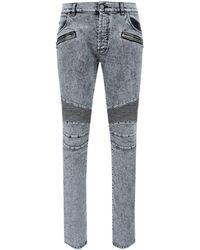 Balmain Faded Denim Jeans - Grey