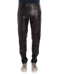 Moschino - Leather Trousers - Lyst