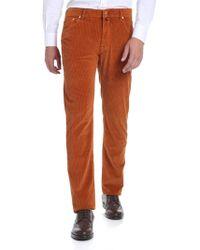 Jacob Cohen - Orange Corduroy 5-pocket Trousers - Lyst