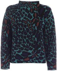 Diane von Furstenberg Animal Pattern Sweater - Green
