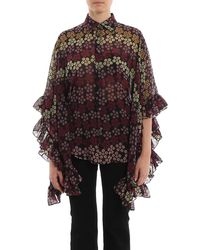 DSquared² Lilou Poncho Style Floral Printed Shirt - Multicolour