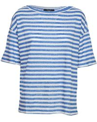 Weekend by Maxmara Rolle Striped T-shirt - White