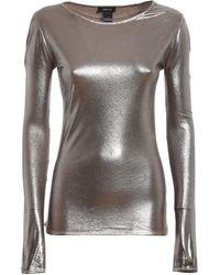 Avant Toi Laminated Fabric T-shirt - Metallic