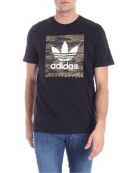 adidas - T-shirt Camouflage BB nera - Lyst