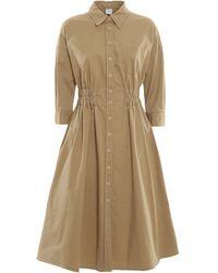 Aspesi Cotton Shirt Dress - Natural