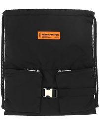 Heron Preston Drawstring Backpack - Black