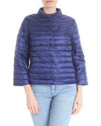 Add - Reversible Dark Blue Down Jacket - Lyst