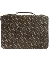 Burberry Marley Laptop Bag - Brown