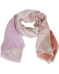 Valentino Garavani Vlogo Cashmere Silk Scarf - Pink
