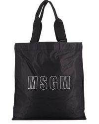 MSGM Shopper Con Stampa Logo Nera - Nero