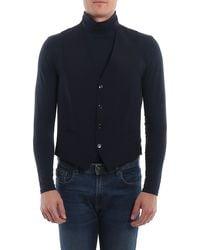 Luigi Bianchi Mantova Virgin Wool Waistcoat - Blue