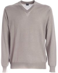 Fedeli Cashmere And Silk Pullover - Natural