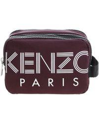 KENZO - Burgundy Beautycase With White Logo Print - Lyst