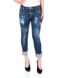 DSquared² - Medium Easy Super Skinny Cropped Jeans - Lyst