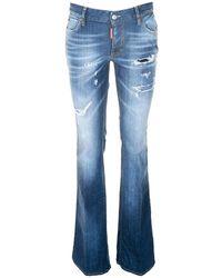 DSquared² - Medium Waist Flare Jeans - Lyst