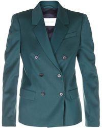 Calvin Klein Green Twill Double Breasted Blazer