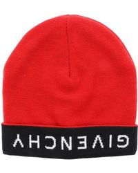 1539a27db13c1 Givenchy - Red Beret With Black And White Logo - Lyst