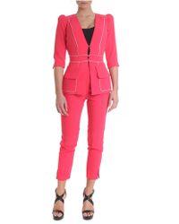 Elisabetta Franchi - Pink Crepe Suit - Lyst