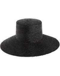 Fabiana Filippi Straw Hat - Black