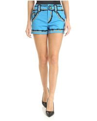 Moschino - Shorts Pixel Capsule Azzurro - Lyst