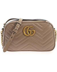 Gucci Gg Marmont Bag - Natural