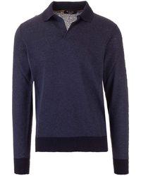 Loro Piana Long-sleeved Polo Shirt - Blue