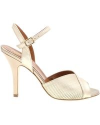 Paris Texas Platinum Sandals In Textured Leather - Multicolour