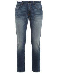 PT Torino Faded Denim Rock Jeans - Blue