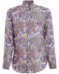 Etro - Multicolour Linen Shirt - Lyst