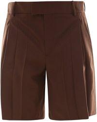 Valentino - Cotton Sartorial Bermuda Trousers - Lyst