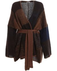 P.A.R.O.S.H. Check Pattern Cardigan - Brown