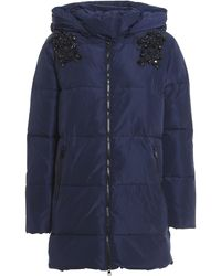 Twin Set Embroidered Padded Jacket - Blue