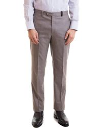 Brioni Wool Cashmere Blend Trousers - Natural