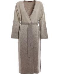 Max Mara Studio Juanita Wool Maxi Cardigan - Grey