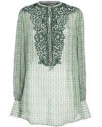 Ermanno Scervino Embroidered Blouse - Green