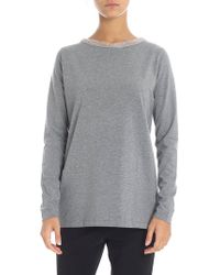 Fabiana Filippi - Grey Sweater With Taupe-colored Neckline - Lyst