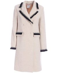 be Blumarine Double-breasted Coat - White