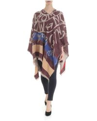 Vivienne Westwood Burgundy Mirror The World Cape - Multicolour