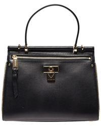 Michael Kors - Jasmine Medium Bag In Black Leather - Lyst