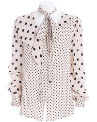 Twin Set Black Polka Dots Shirt - White