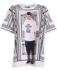 Moschino T-Shirt Stampata - Bianco