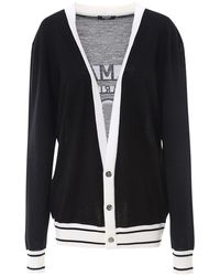 Balmain Logo Wool Cardigan - Black