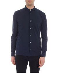 Zanone Blue Ice-cotton Shirt