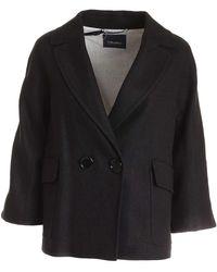 Max Mara Zucca Double-breasted Jacket - Black