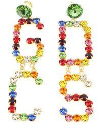 Gcds Rhinestone Earrings Multicolor - Metallic