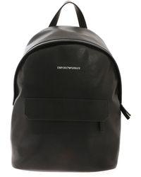 Emporio Armani Saffiano Effect Backpack - Black